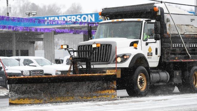 A Kentucky Transportation Cabinet snow plow.