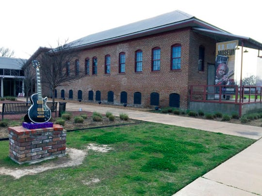 This March 9, 2017 photo shows the B.B. King Museum and Delta Interpretive Center in Indianola, Miss. The museum focuses on King's life and musical legacy. It's one of a number of attractions in the Delta that explores the region's blues history. King is also buried at the site.