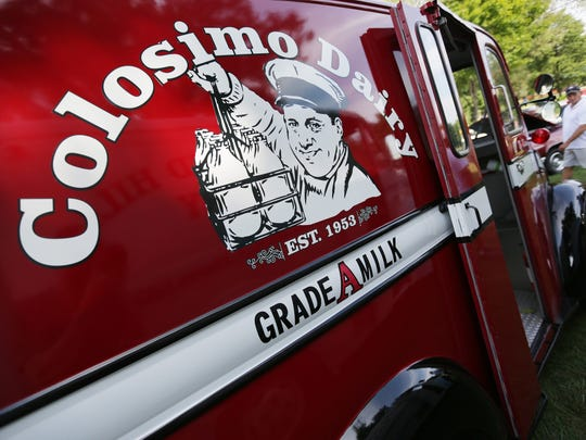 Gary Colosimo's 1957 Divco Model 13 milk delivery truck is in Royal Oak during the 2016 Woodward Dream Cruise on Saturday, Aug. 20, 2016.