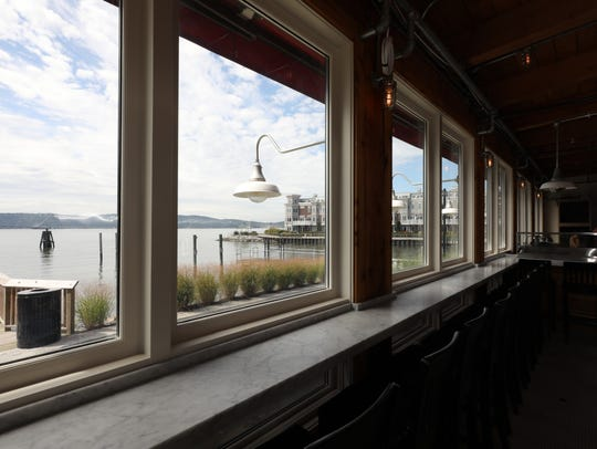 A view of the Hudson River at the Hudson Farmer & the