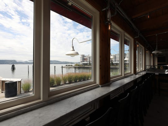 A view of the Hudson River at the Hudson Farmer & the Fish at 11 River Street in Sleepy Hollow, Sept. 13, 2017.