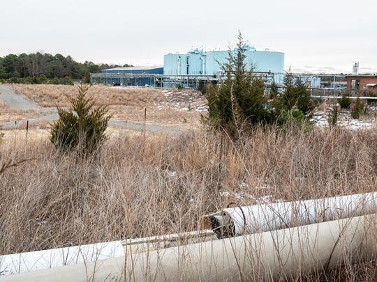 The former Ciba-Geigy Corp. Superfund site in Toms River.