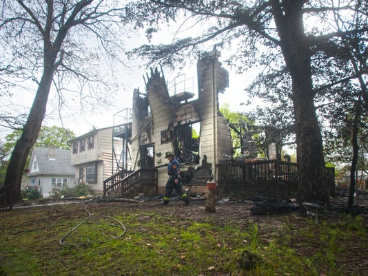 Firefighter hurt as Pennsauken home collapses
