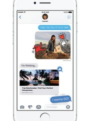 iOS 10 added features to the Messages app.