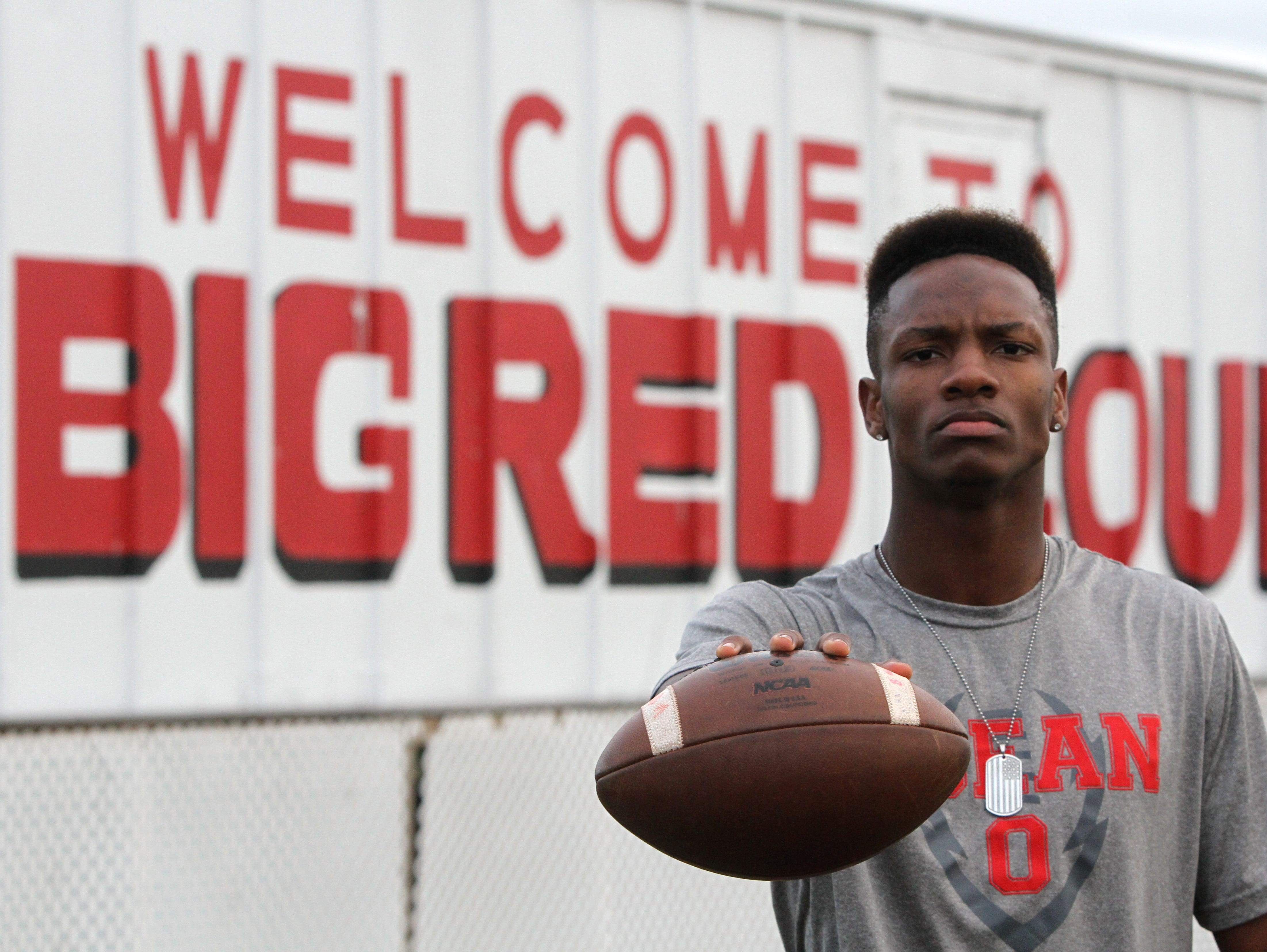 Ocean running back Tyler Thompson, who earned the football offensive game ball this week, at Ocean Twp. High School Monday November 30, 2015.