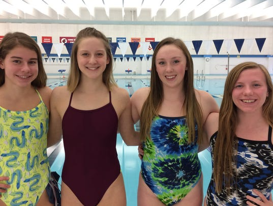 Fond du lac girls swimming quartet heading to state University of wisconsin swimming pool