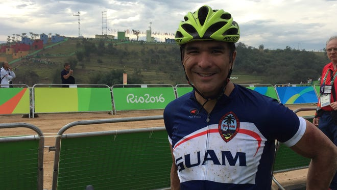 Peter Lombard after his Olympic mountain bike race on Aug. 21 during the Rio de Janeiro Olympic Games.