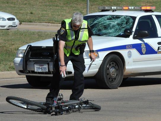 Wichita Falls police investigate an accident involving