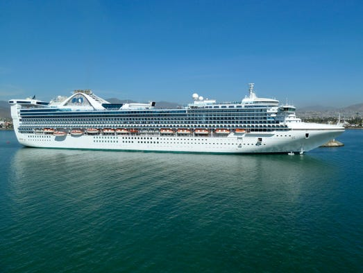 Princess Cruises 2002-built, 108.997 gt, 2,600-guest