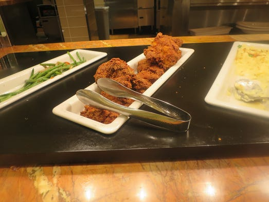 """"""" comfort food selections include a matzo-crusted fried chicken ..."""