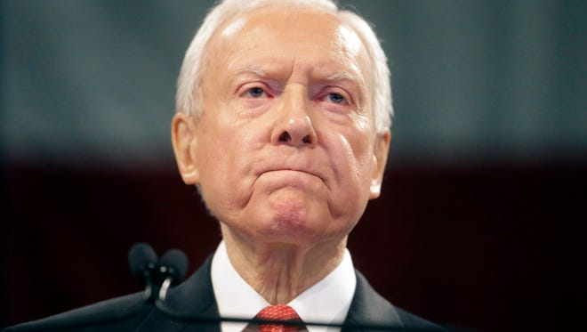"U.S. Sen. Orrin Hatch, a sponsor of the suicide-hotline number bill, said, "" ""I'm grateful this life-saving proposal has been signed into law."""