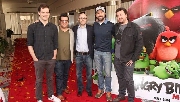 Actor Bill Hader, actor Josh Gad, producer John Cohen,