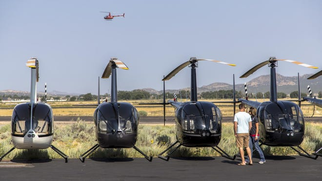 Residents were invited to check out the helicopters at Upper Limit Aviation on Saturday.