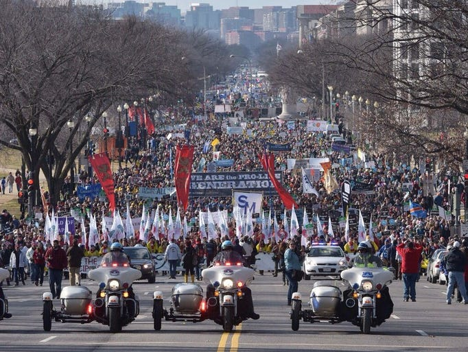 """USA Today: """"Thousands March"""""""