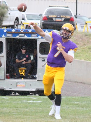 WNMU quarterback Mitch Glasmann broke the RMAC touchdown record of 99 tallying four over the weekend.