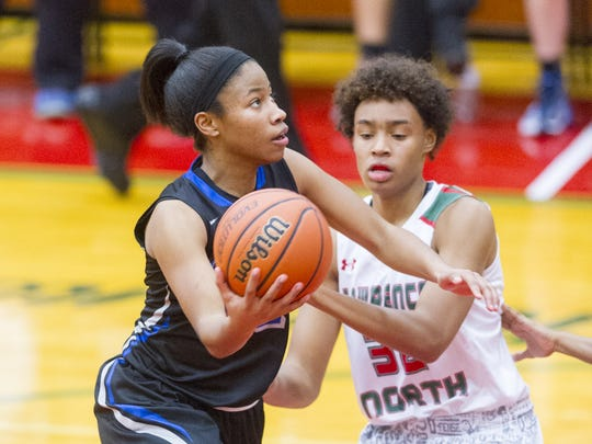 Heritage Christian senior Tyasha Harris is still uncommitted for college.