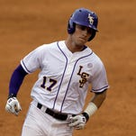 LSU's Jared Foster rounds the bases after hitting a home run during the second inning against Auburn at the SEC baseball tournament May 20 in Hoover, Ala.