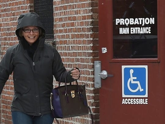 Amanda Zita leaves the Passaic County Probation Office for the last time as she completes her supervision under drug court.