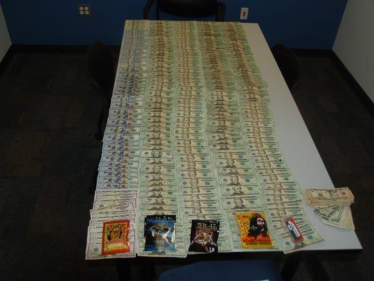 Police also found $14,149 in cash