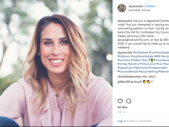A screenshot of Alyssa Robis' Instagram page. Robis