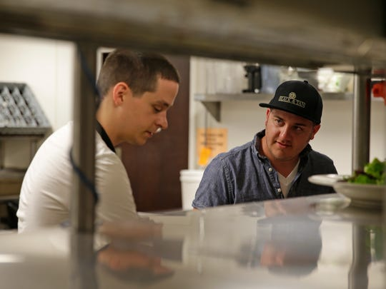Steven Glasl, a line chef at Black and Tan Restaurant,