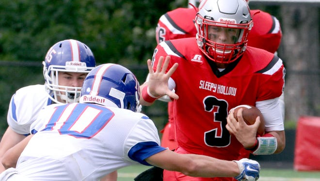 Sleepy Hollow quarterback Sean McCarthy (3) is among the passing leaders in the new lohud.com statistical databases.