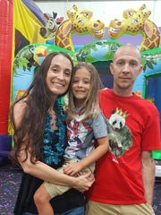 Birthday time Kingston Gill celebrated his sixth birthday in style with family and friends at the Inflatable Fun Factory recently. He is pictured with his parents Lori and Matt.