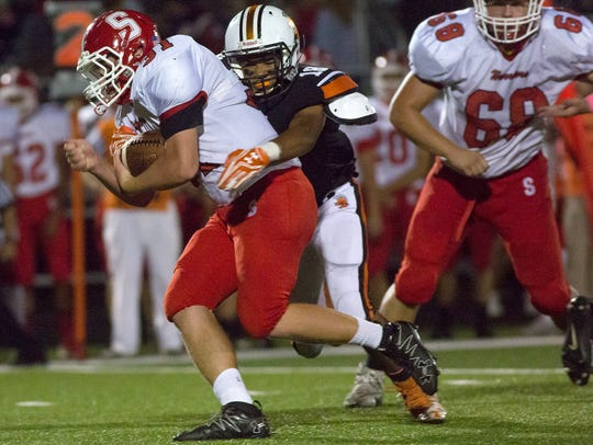 York Suburban's Marcos Baldesi is unable to bring down