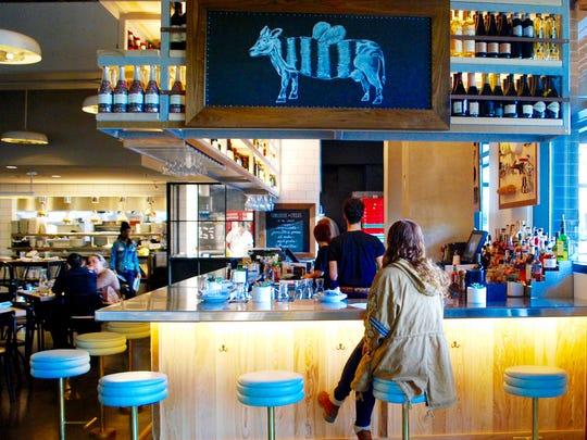 Milk & Honey: View of the bar.