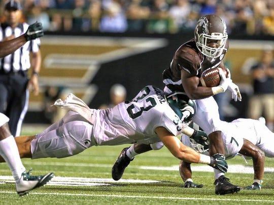 MSU sophomore linebacker Jon Reschke has come up big through two games this season.