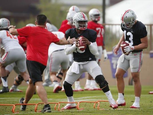 Sports: Fiesta Bowl - Ohio State Practice