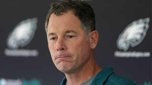 Offensive coordinator Pat Shurmur has taken over for head coach Chip Kelly on an interim basis for the Eagles' finale against  the Giants on Sunday.