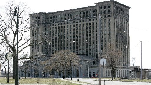 The landmark but empty Michigan Central Depot in Detroit, March 24, 2010, will soon have new windows.