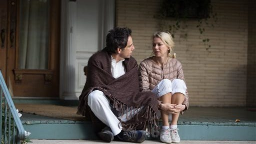 """In this image released by A24 Films, Ben Stiller, left, and Naomi Watts appear in a scene from """"While We're Young."""" (AP Photo/A24 Films, Jon Pack)"""