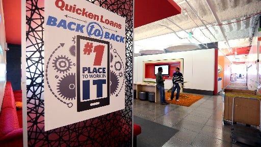 Quicken Loans is headquartered in downtown Detroit