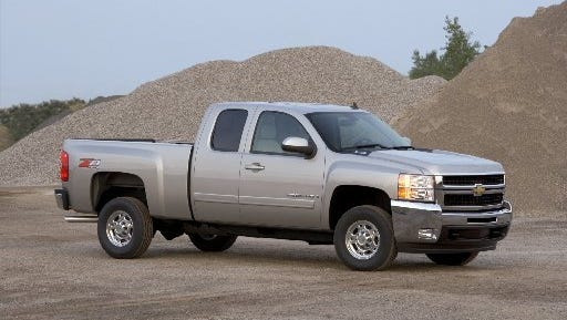 About 330,000 Chevrolet Silverados and GMC Sierra heavy duty pickup trucks were added to the National Highway Traffic Safety Administration's recall of nearly 34 million vehicles equipped with Takata air bags.