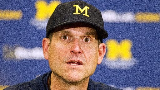 Michigan coach Jim Harbaugh is gone from the NFL, but not forgotten.