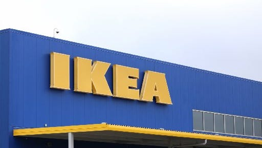 The Ikea store in Canton. Ikea has recalled 29 million chests and dressers.