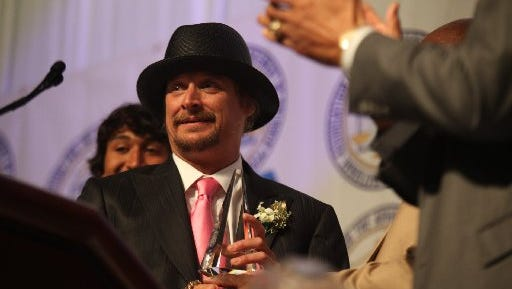 Kid Rock was honored at the 2011 Detroit Branch NAACP Fight For Freedom Fund Dinner at Cobo Center, Sunday, May 1, 2011.  GALLIGAN/Detroit Free Press