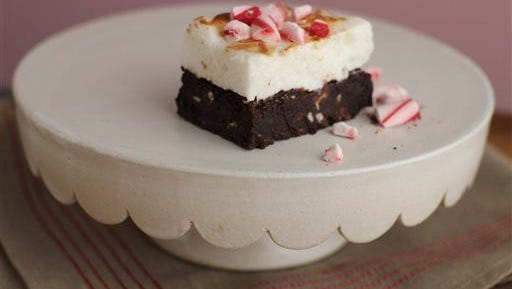 Toasted Mint Marshmallow Brownies