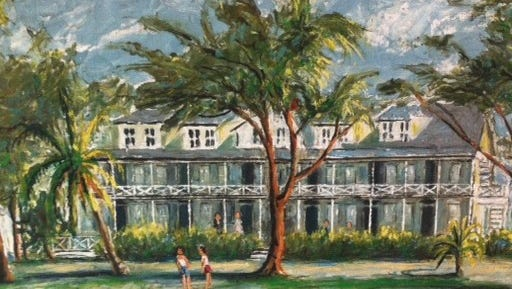 The Barracks at the Island Inn was built in 1914 and torn down in 1970. After years of hurricanes and loyal, no-frills vacationers, it was finally declared a fire hazard and torn down.