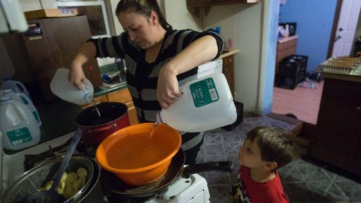 The governor's task force is urging quicker repairs of Flint's water system so residents don't have to rely on bottled water.