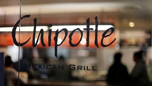FILE - This Sunday, Dec. 27, 2015, file photo, shows a Chipotle restaurant in Union Station in Washington. The Centers for Disease Control and Prevention said Monday, Feb. 1, 2016, that the E. coli outbreak at Chipotle restaurants appears to be over, and that they are closing the investigation. (AP Photo/Gene J. Puskar, File)