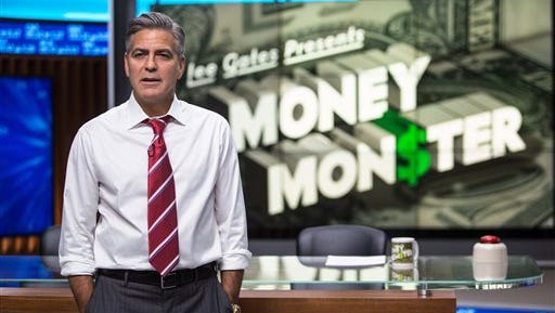 "In this image released by Sony Pictures, George Clooney appears in a scene from ""Money Monster."""