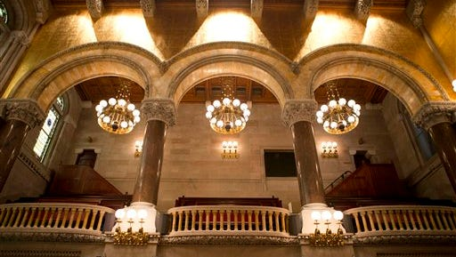 The Senate Chamber is seen at the state Capitol on Tuesday, May 3, 2016, in Albany, N.Y.