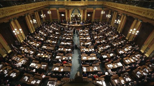 The Michigan House of Representatives on Thursday night passed a bill to help Detroit Public Schools pay down debt the state ran up, but does nothing to improve education in Detroit.