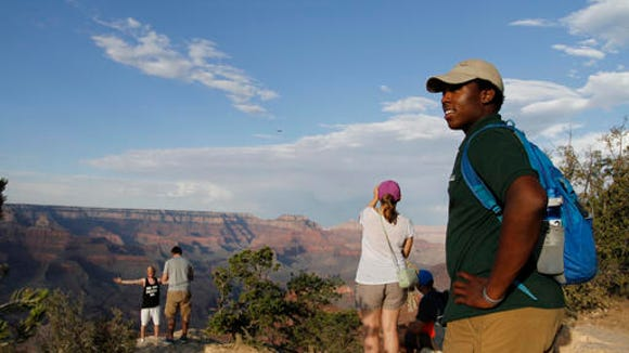 Grand Canyon National Park intern Mi-Kal White looks