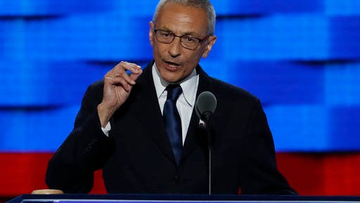 John Podesta is Hillary Clinton's campaign chairman.