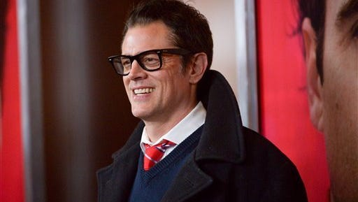 """Johnny Knoxville arrives for the premiere of the film """"Her"""" in Los Angeles on Dec. 12, 2013"""