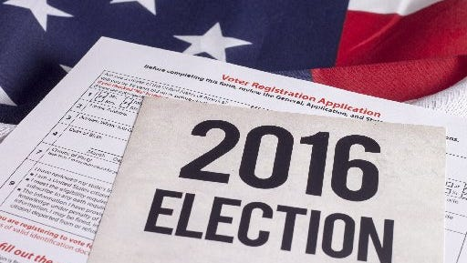 Voter registration application for the 2016 presidential election